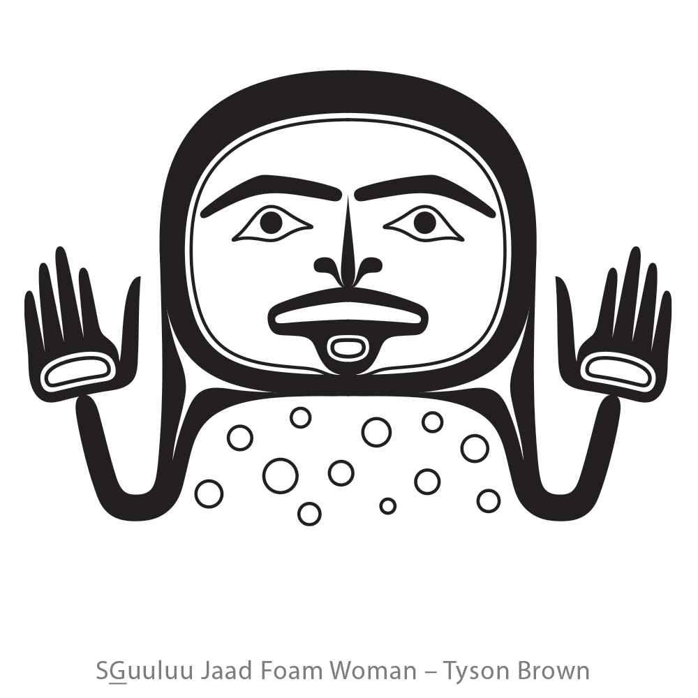 Sguuluu Jaad Foam woman by Tyson Brown